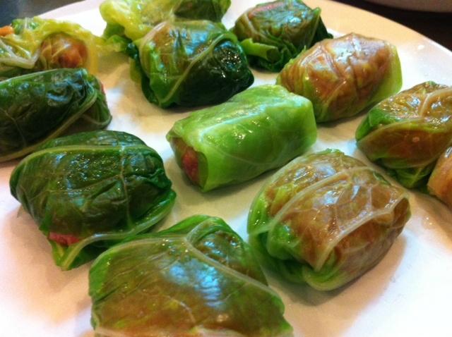 Farcellets de col / Pork and cabbage dumplings